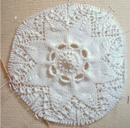 Hemlock ring doily in progress